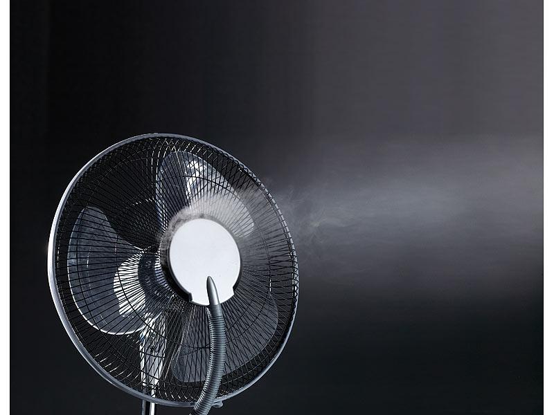 sichler haushaltsger te stand ventilator vt 441 s mit ultraschall spr hnebel fernbedienung. Black Bedroom Furniture Sets. Home Design Ideas