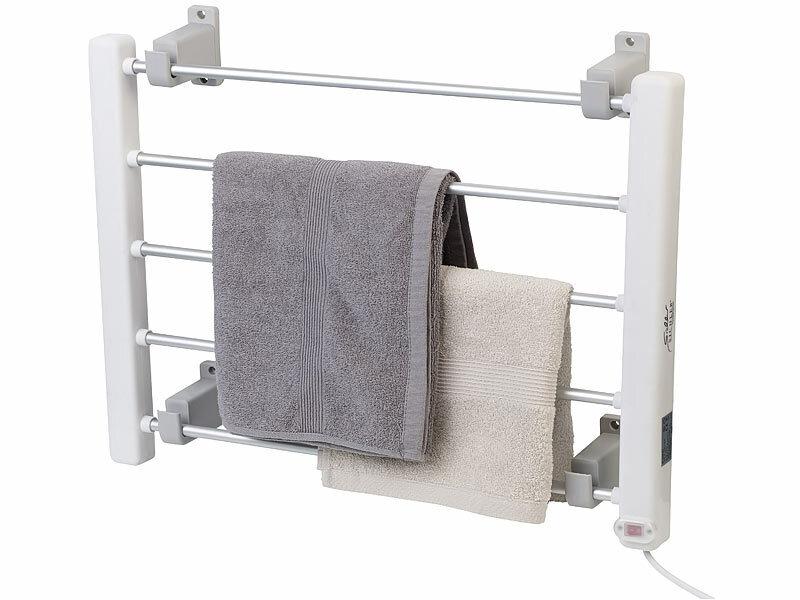 sichler haushaltsger te elektrisch beheizbarer handtuchw rmer. Black Bedroom Furniture Sets. Home Design Ideas
