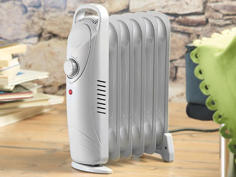 ÖlRadiator 9 Rippen Radiator Mini Elektroheizung Heizlüfter Konvektor Heizkörper