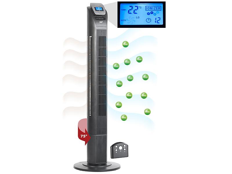 Sichler Haushaltsger/äte Ventilateur colonne avec ioniseur VT-375