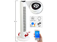 Sichler Haushaltsgeräte Ventilateur colonne connecté compatible Amazon Alexa & Assistant Go...